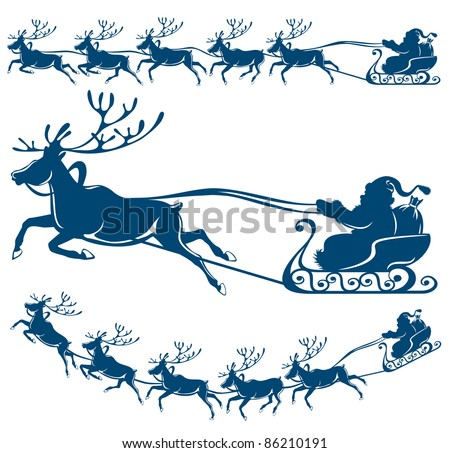 reindeer and santa claus the