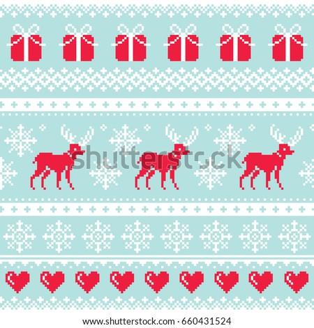 reindeer pattern  christmas