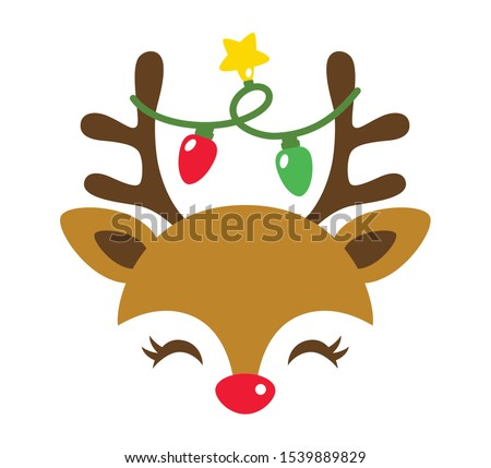 reindeer with decorative