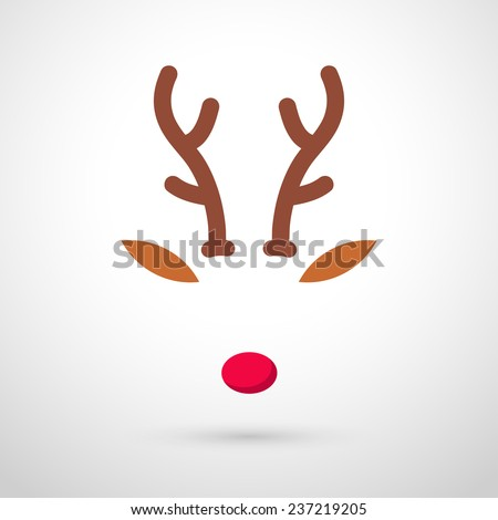 reindeer with red nose template