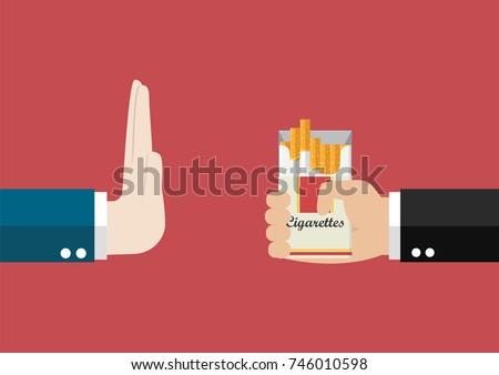 reject cigarette offer anti