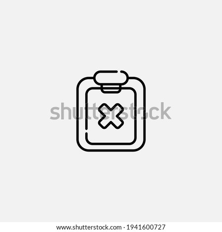 reject icon sign vector symbol