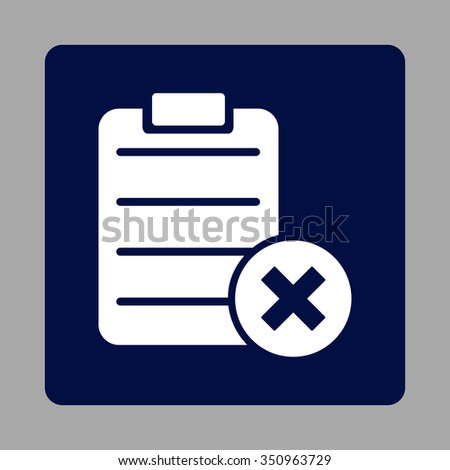 reject sheet vector icon style