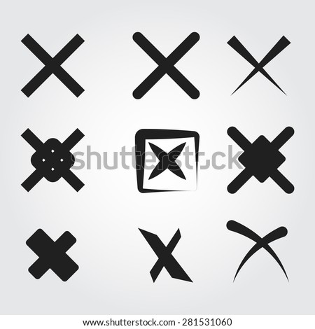 reject vector icons