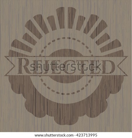 Rejected retro wood emblem