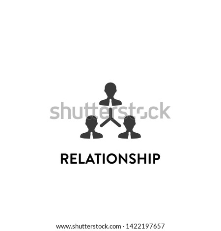 relationship icon vector. relationship vector graphic illustration