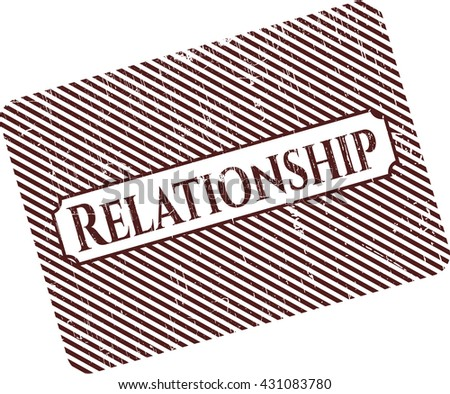 Relationship rubber grunge texture seal