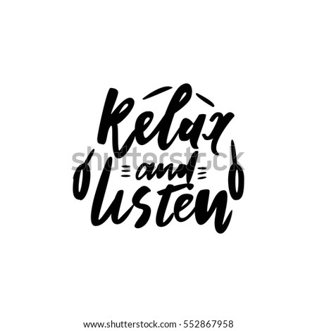 relax and listen music