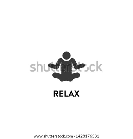 relax icon vector. relax vector graphic illustration
