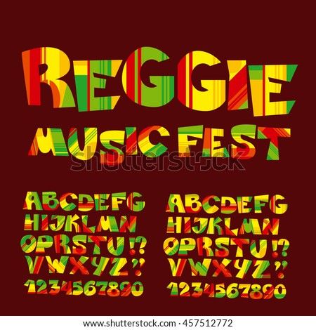 relax reggae music color font