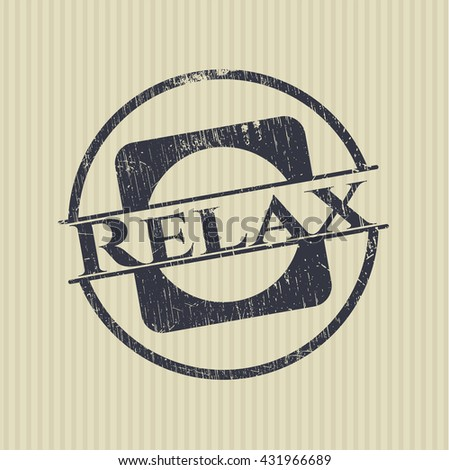 Relax rubber grunge stamp