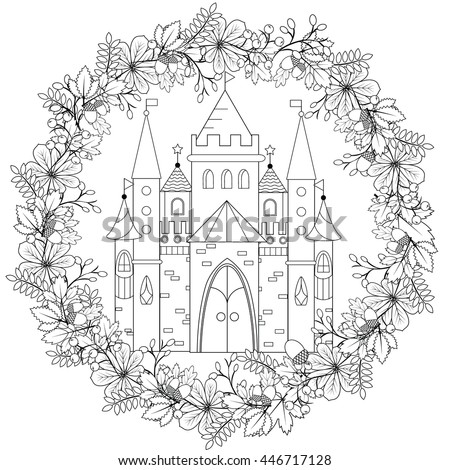 relaxing coloring page with