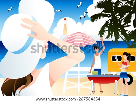 relaxing summer holiday   cute
