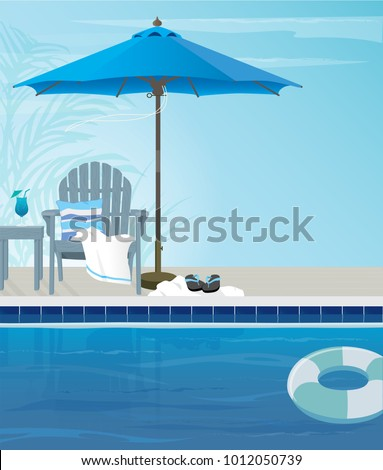 relaxing tropical swimming pool