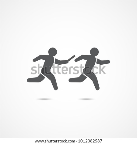 Relay race symbol icon on white background