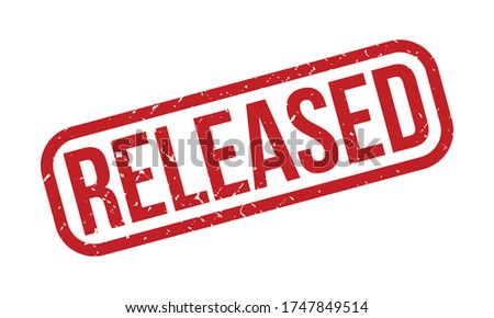 Released Rubber Stamp. Red Released Rubber Grunge Stamp Seal Vector Illustration Photo stock ©