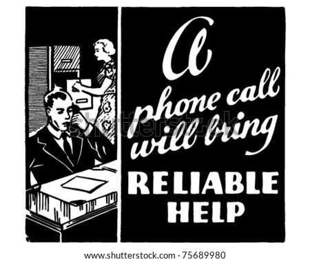 Reliable Help - Retro Ad Art Banner