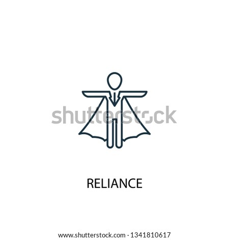 reliance concept line icon. Simple element illustration. reliance concept outline symbol design. Can be used for web and mobile UI/UX
