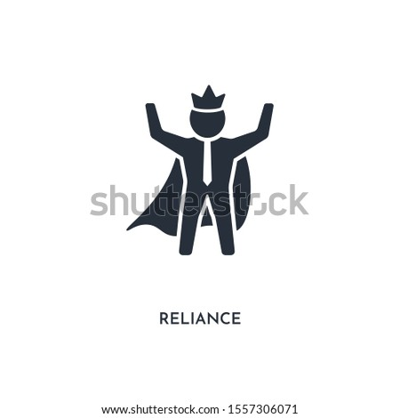 reliance icon. simple element illustration. isolated trendy filled reliance icon on white background. can be used for web, mobile, ui.