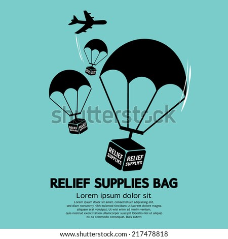 relief supplies bag with