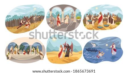 Religion, christianity, Bible set concept Foto stock ©