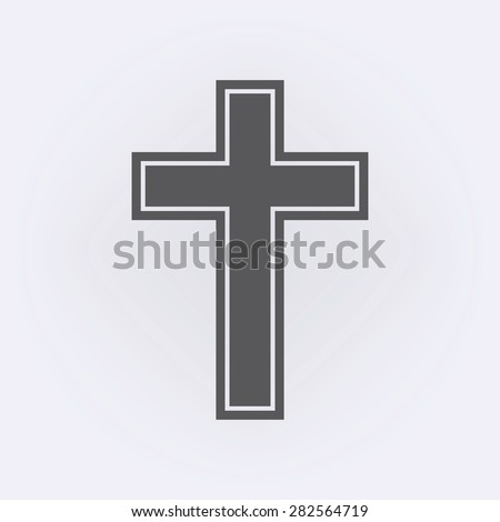 Religion cross icon