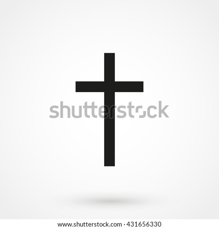 religion cross icon isolated on