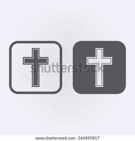 Religion cross icon set . Vector illustration - Shutterstock ID 366895817