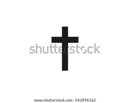 Religion cross icon vector illustration on white background
