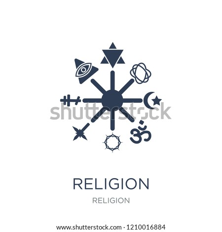 Religion icon. Trendy flat vector Religion icon on white background from Religion collection, vector illustration can be use for web and mobile, eps10