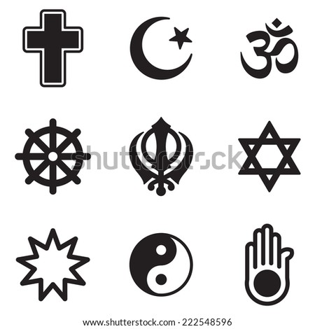 Religion Icons - Shutterstock ID 222548596