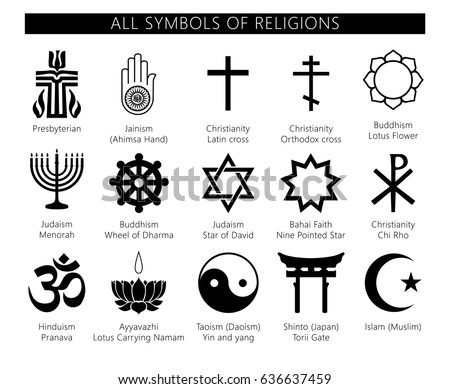 religion icons set set of 19