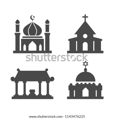 Religion of worship place vector icon