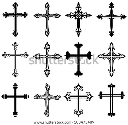 free christian crosses vector - download free vector art, stock
