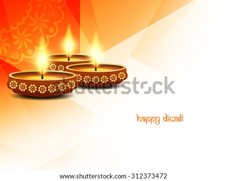 religious happy diwali vector
