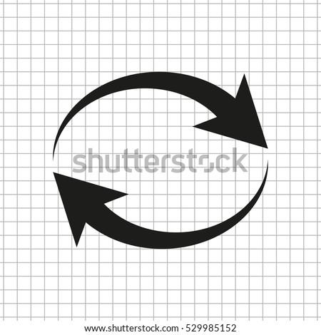Reload  - black vector icon