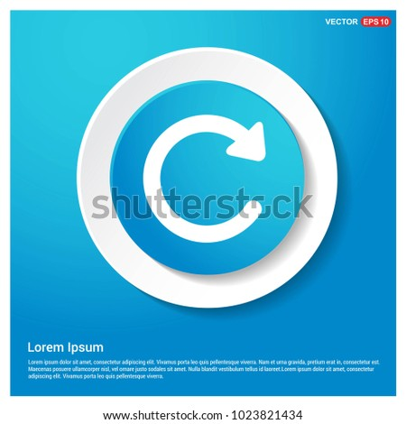 Reload icon Abstract Blue Web Sticker Button