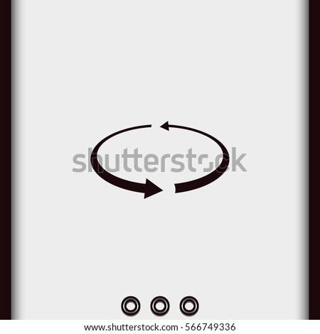 Reload vector icon. Circular arrows illustration. Simple flat spin pictogram.