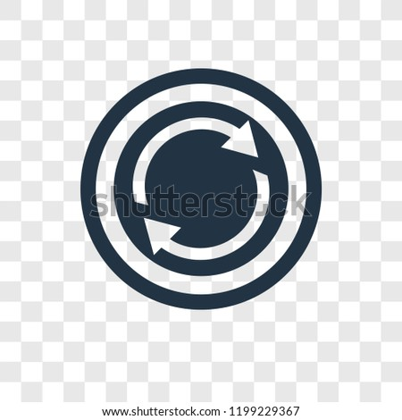 Reload vector icon isolated on transparent background, Reload transparency logo concept