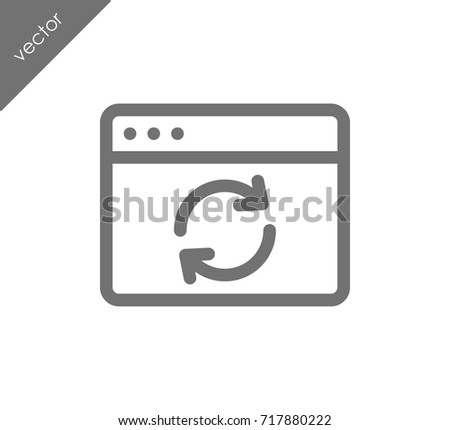Reload web page icon