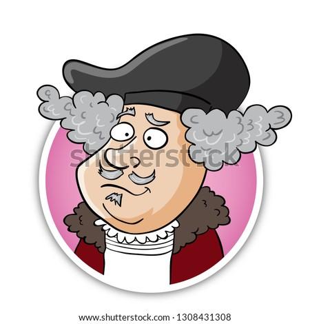 Rembrandt caricature portrait