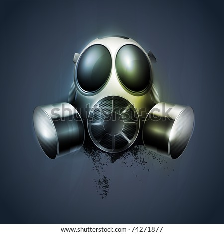 Stock Photo remedy, Gas mask, respirator. transparency, EPS10.