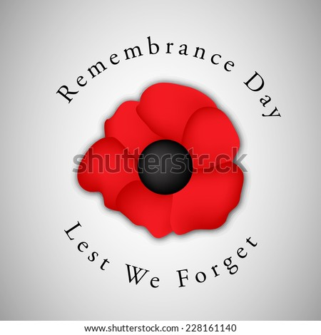 Remembrance Day Background with Illustration of Poppy Flower