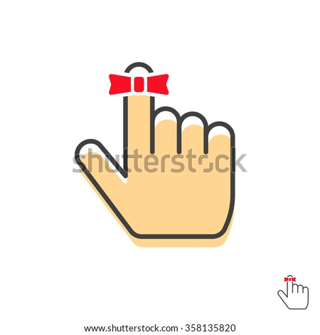 reminder finger icon vector