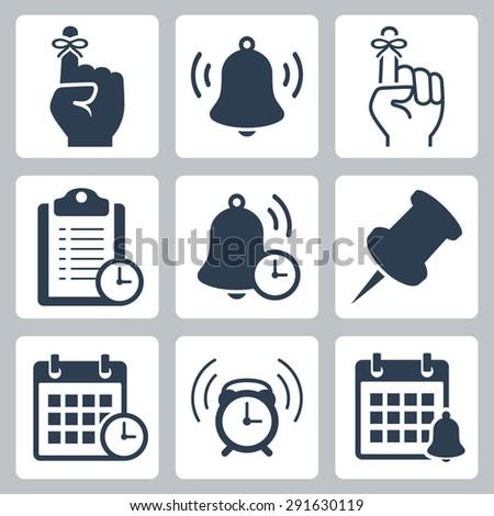 Reminders vector icon set Stockfoto ©