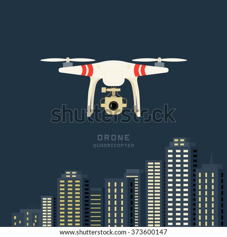 remote aerial drone with a