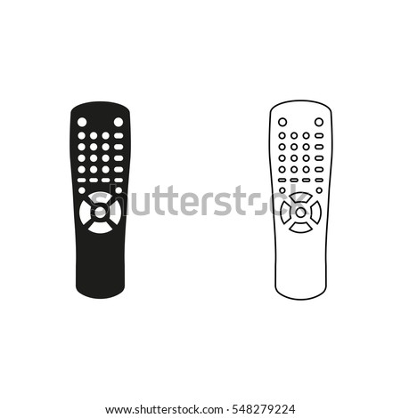Remote control  - black vector icon