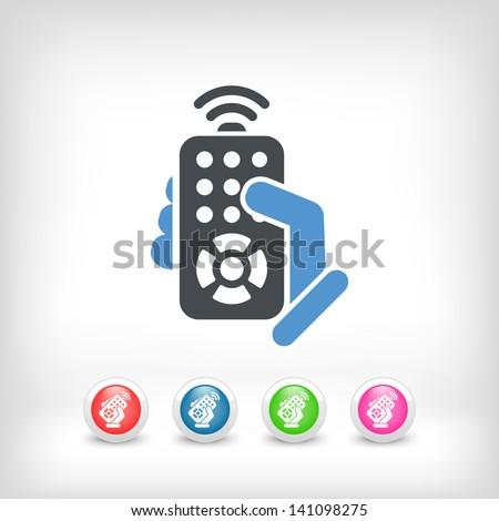 Remote control concept icon