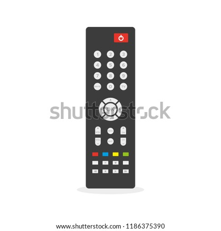 Remote control. Flat colorful illustration. TV remote controller. Vector illustration, flat design