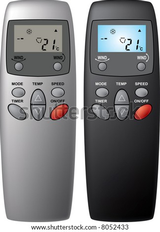 Remote control from the air conditioner. A vector illustration. It is isolated on a white background.